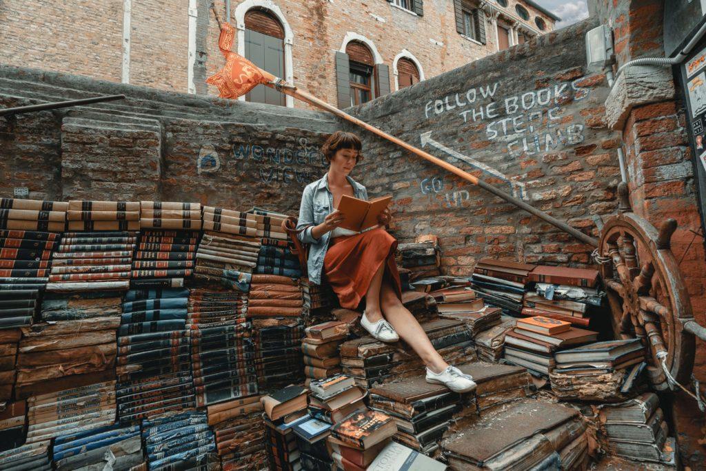 Bookshop Aqua Alta Venice